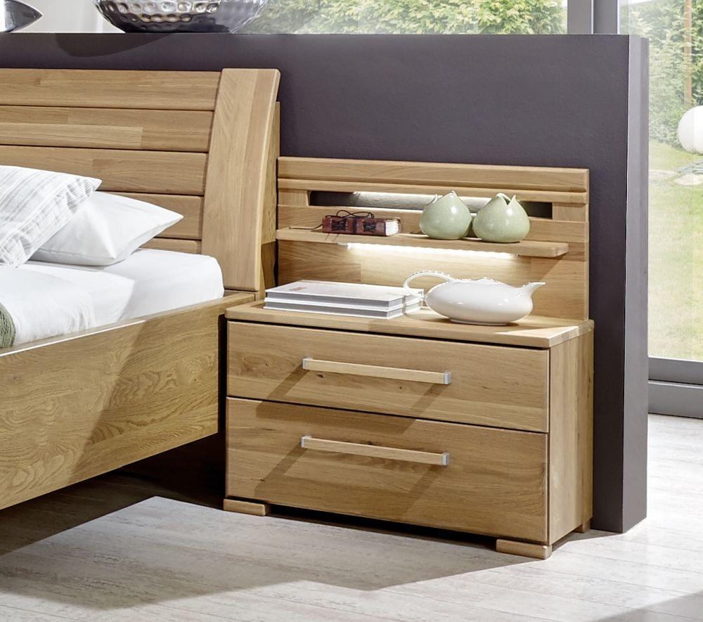Wiemann Modena 3 Drawer Bedside Cabinet in Oak