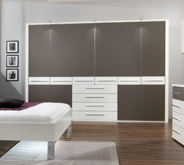 Wiemann Pasadena 3 Door 4 Drawer Wardrobe in White and Havana - W 150cm