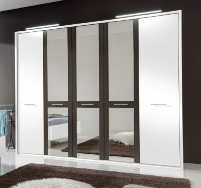 Wiemann Portland Wardrobe with Crystal Mirror Front