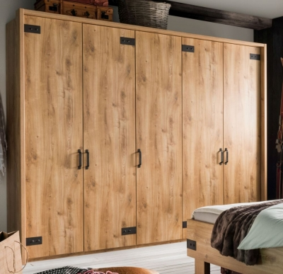 Wiemann Salzburg Wardrobe with Antique Design Iron Brackets