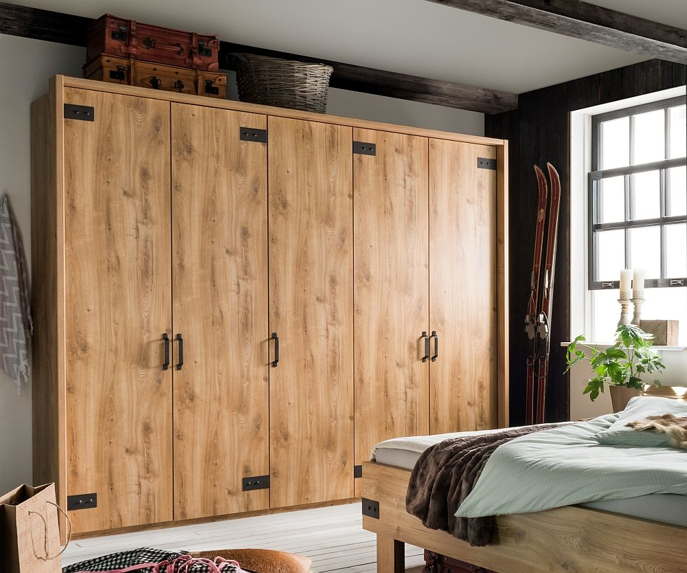 Wiemann Salzburg 5 Door Wardrobe in Oak - W 250cm