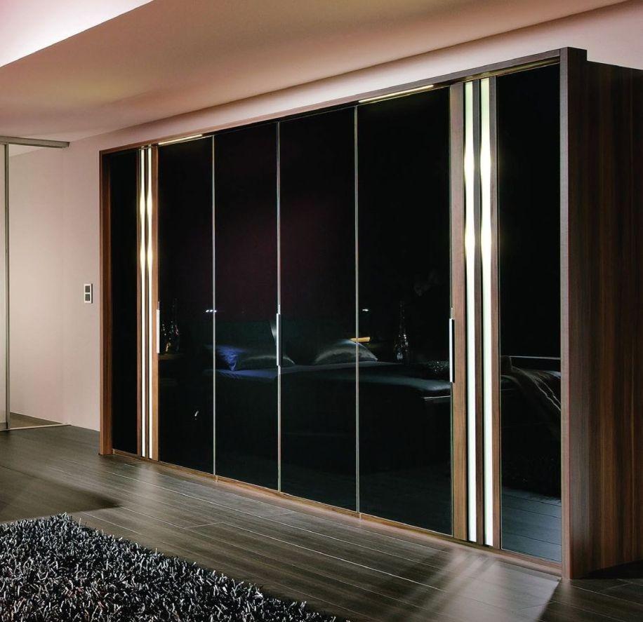 Wiemann Santos Wardrobe with Black Glass Front