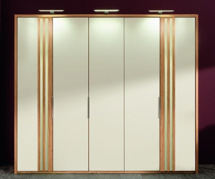 Wiemann Santos Wardrobe with White Glass Front