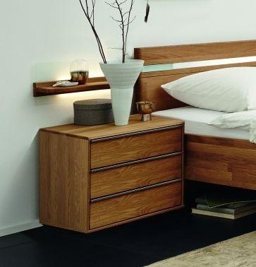 Wiemann Savona 3 Drawer Bedside Cabinet in Oak