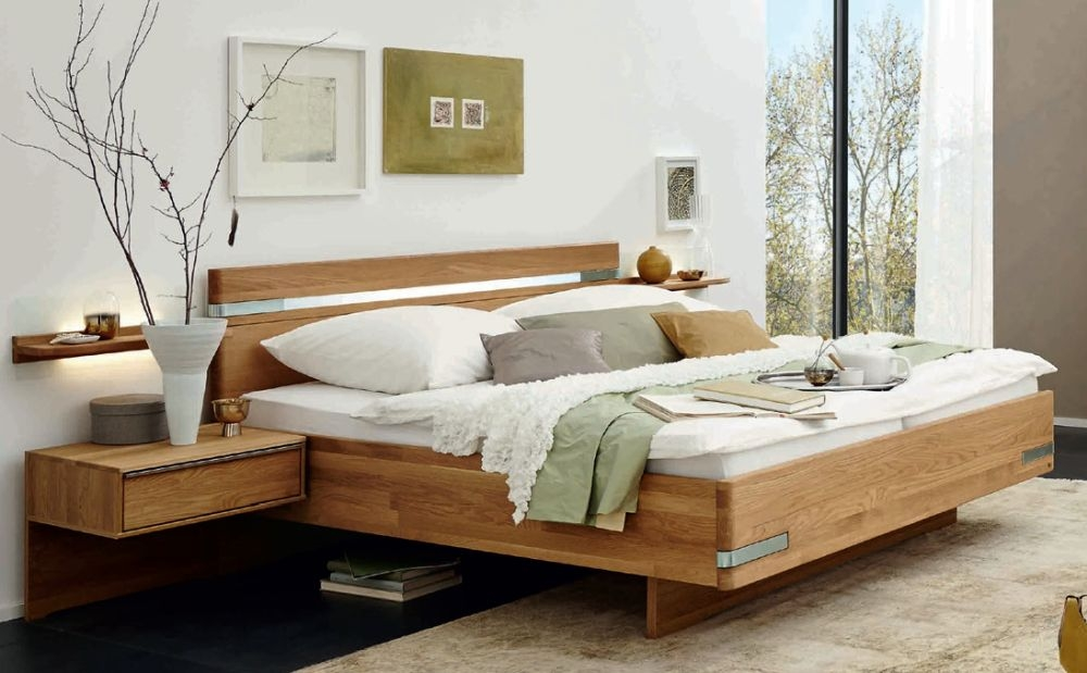 Wiemann Savona 6ft Queen Size Futon Bed in Oak - 180cm x 200cm