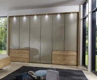 Wiemann Serena Bi-Fold Panorama Door Wardrobe with Sahara Glass