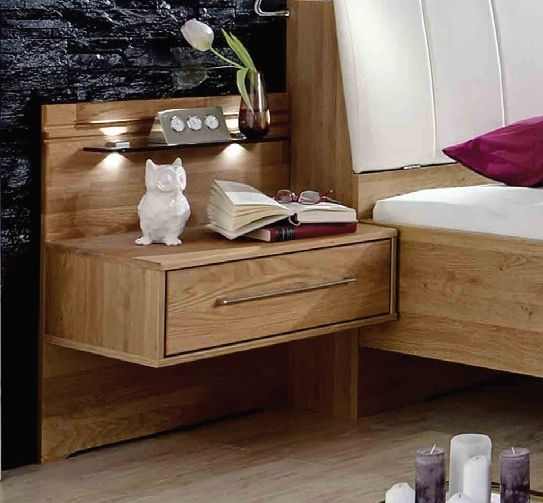 Wiemann Serena 1 Drawer Bedside Cabinet in Oak