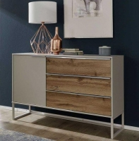 Wiemann Sita 3 Drawer Bedside Cabinet in Champagne and Oak