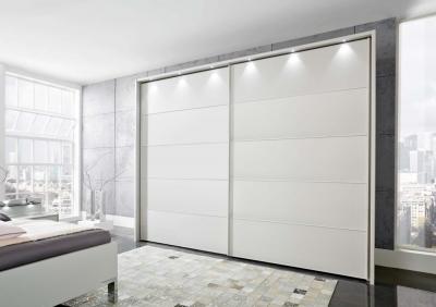 Wiemann Sunset 2 Door Sliding Wardrobe with LED Passepartout in Champagne - W 200cm