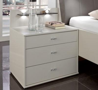 Wiemann Sunset 3 Drawer Bedside Cabinet in Champagne - W 40cm