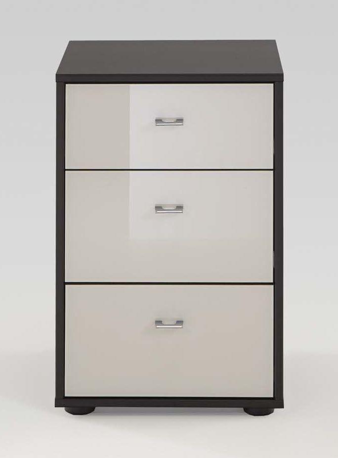 Wiemann Tokio 3 Drawer Bedside Cabinet