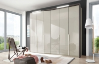 Wiemann VIP Cayenne 5 Door Wardrobe with Extended Depth in Pabble Grey - W 233cm