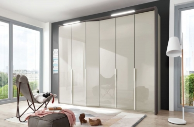 Wiemann VIP Cayenne 7 Door Wardrobe with Extended Depth in Pabble Grey - W 333cm