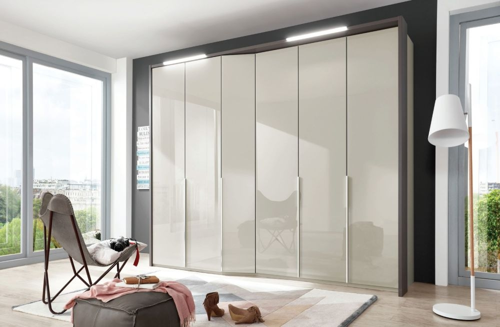 Wiemann VIP Cayenne 4 Door Wardrobe with Extended Depth in Pabble Grey - W 183cm
