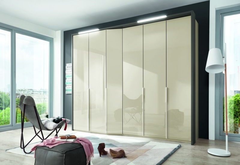 Wiemann VIP Cayenne 5 Door Wardrobe with Extended Depth in Champagne - W 233cm