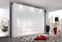 Wiemann VIP Eastside 8 Door 3 Drawer Wardrobe in White - W 400cm