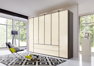 Wiemann VIP Eastside 4 Door 3 Drawer Wardrobe in Havana and Magnolia - W 200cm