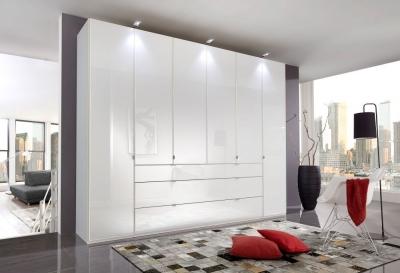 Wiemann VIP Eastside 5 Door 3 Drawer Wardrobe in White - W 250cm