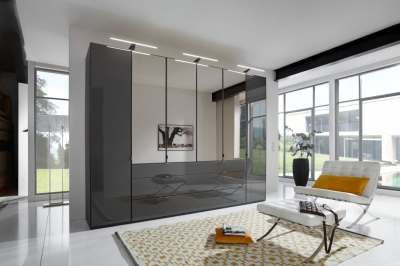 Wiemann VIP Eastside Wardrobe with Glass and Mirror Front