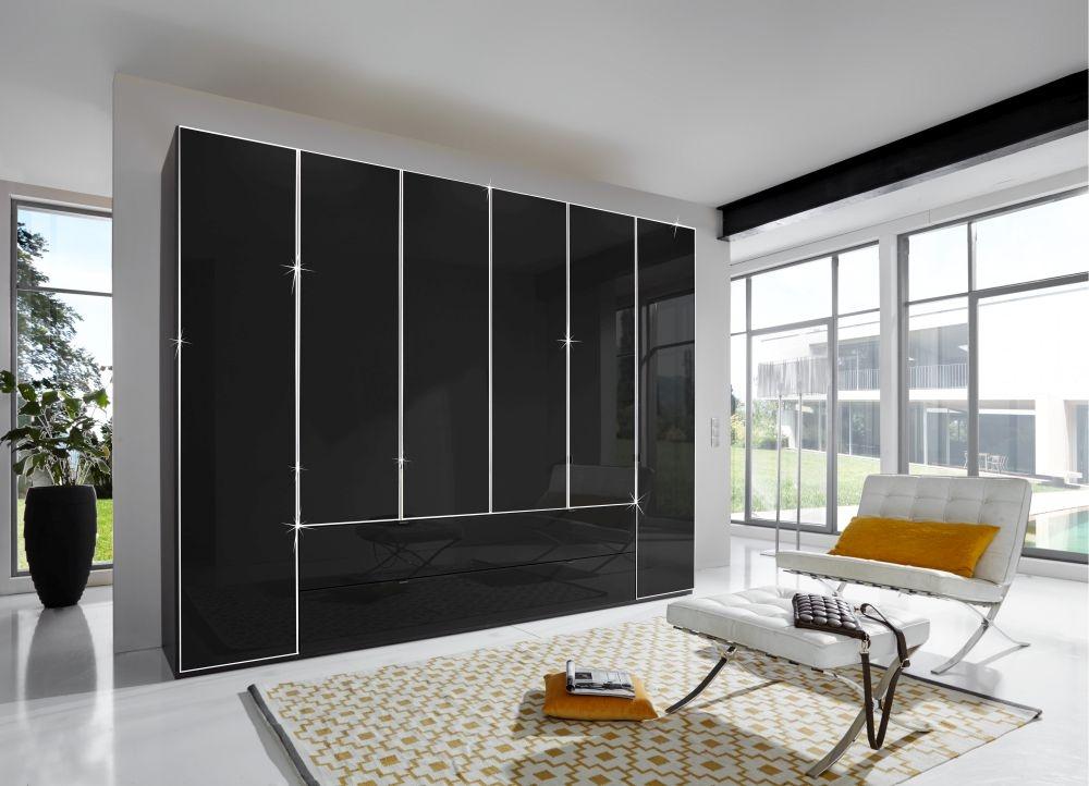 Wiemann VIP Eastside 3 Door 3 Drawer Wardrobe in Black - W 150cm