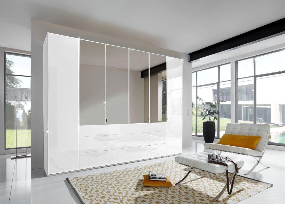 Wiemann VIP Eastside 4 Door 3 Drawer 2 Mirror Wardrobe in White - W 200cm