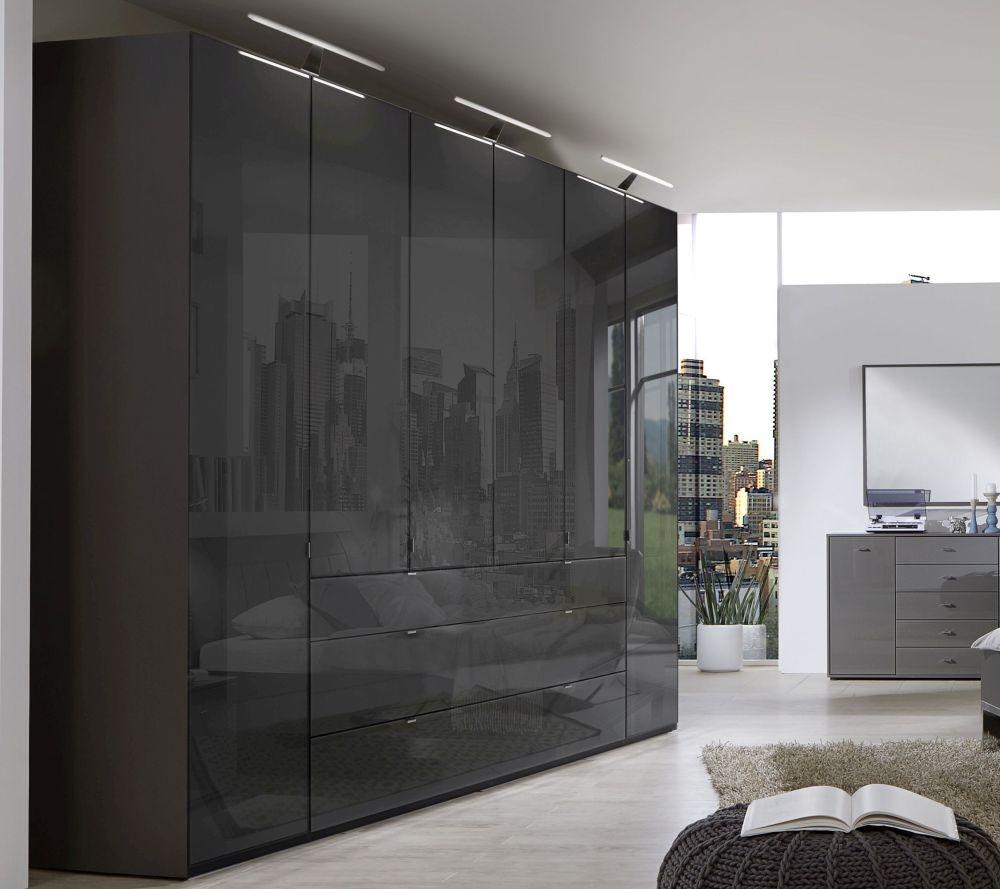 Wiemann VIP Eastside 6 Door 3 Drawer Wardrobe in Havana - W 300cm