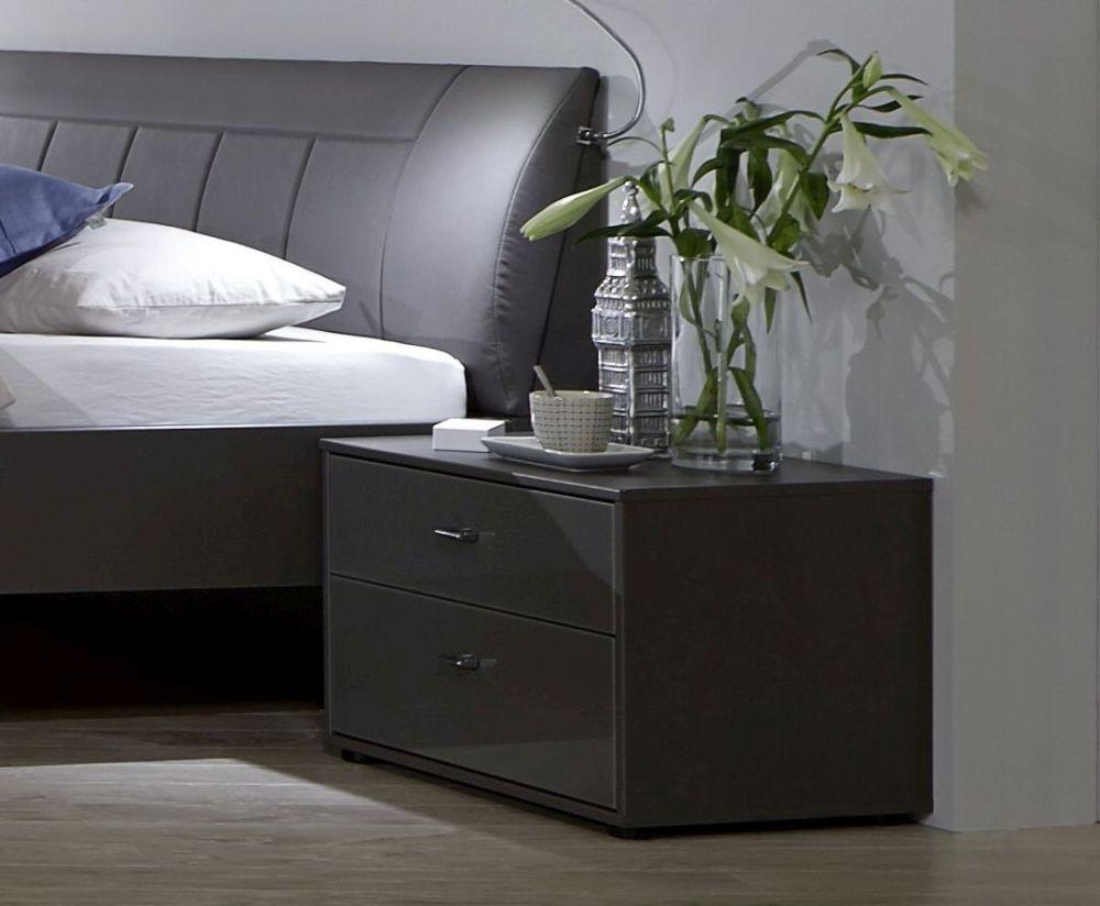 Wiemann VIP Eastside 2 Drawer Bedside Cabinet in Havana - W 60cm