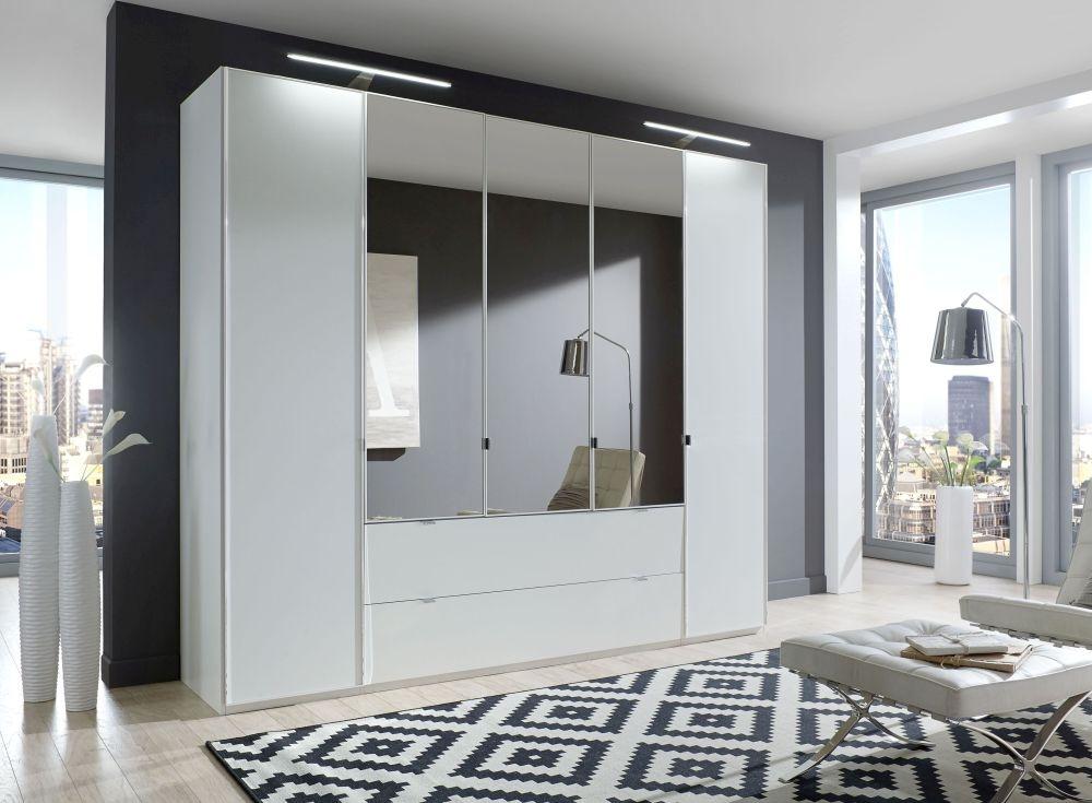 Wiemann VIP Eastside 4 Door Combi Wardrobe in White - W 250cm
