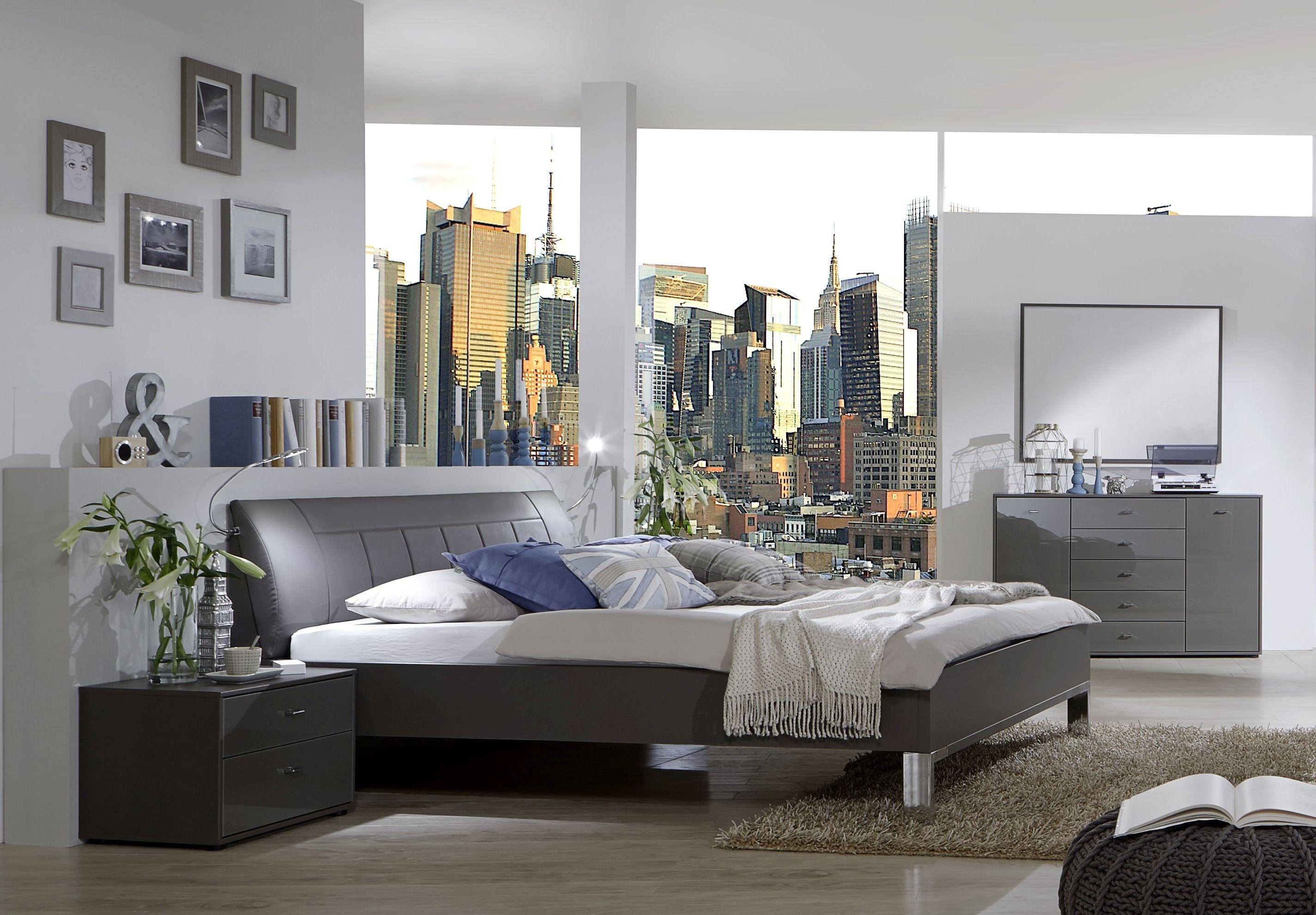 Wiemann VIP Eastside 6ft Queen Size Leather 48cm Footboard Height Bed in Havana - 180cm x 200cm
