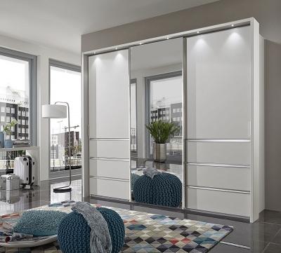Wiemann VIP Malibu 3 Door Combi Sliding Wardrobe in White - W 250cm