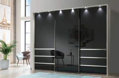 Wiemann VIP Malibu Sliding Wardrobe with Graphite Glass Front
