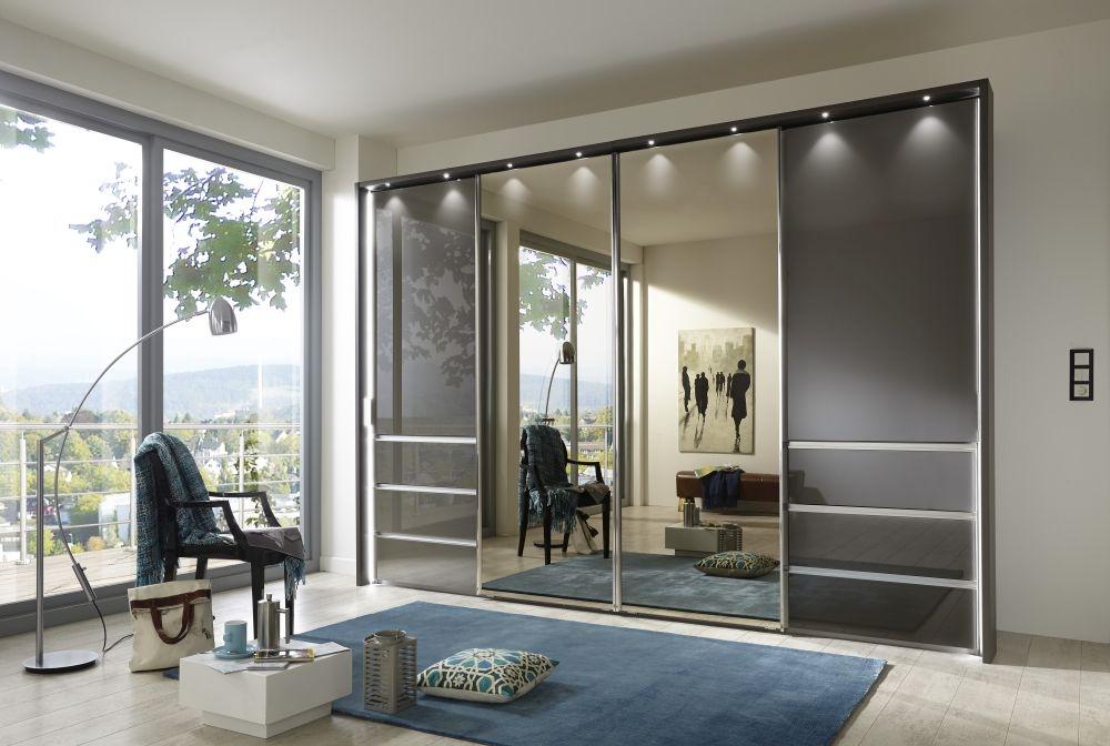 Wiemann VIP Malibu Sliding Wardrobe with Drawers and Center Mirror