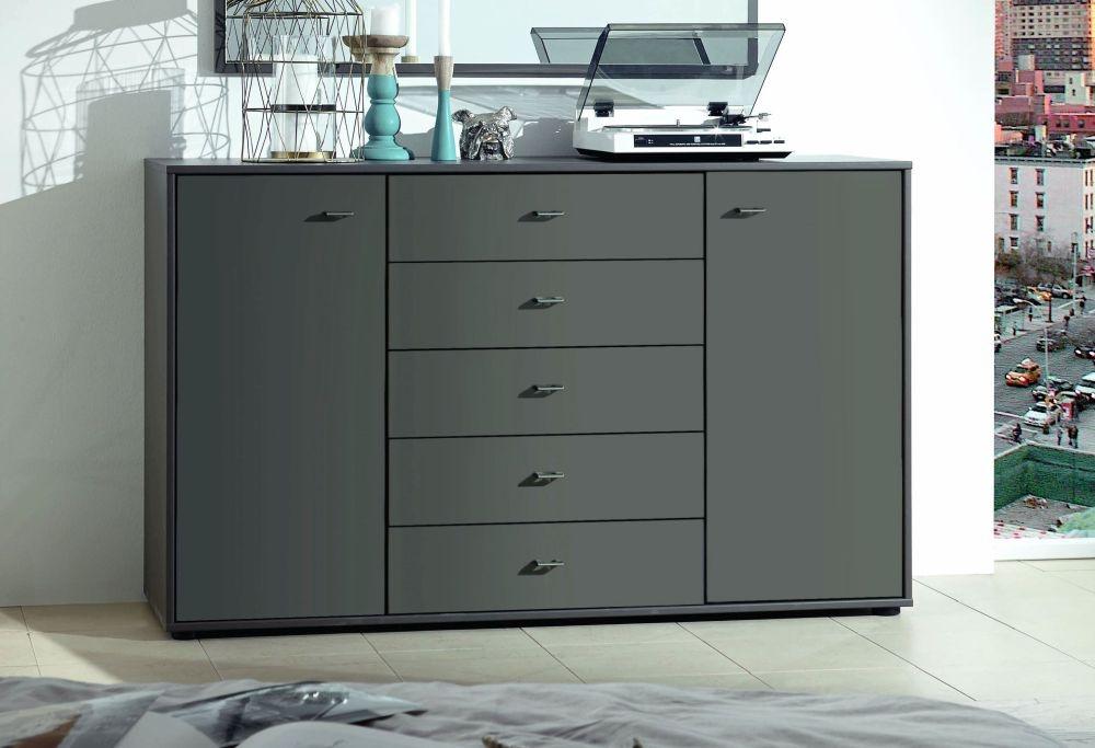 Wiemann VIP Multiplus 2 Drawer Bedside Cabinet in Havana - W 40cm