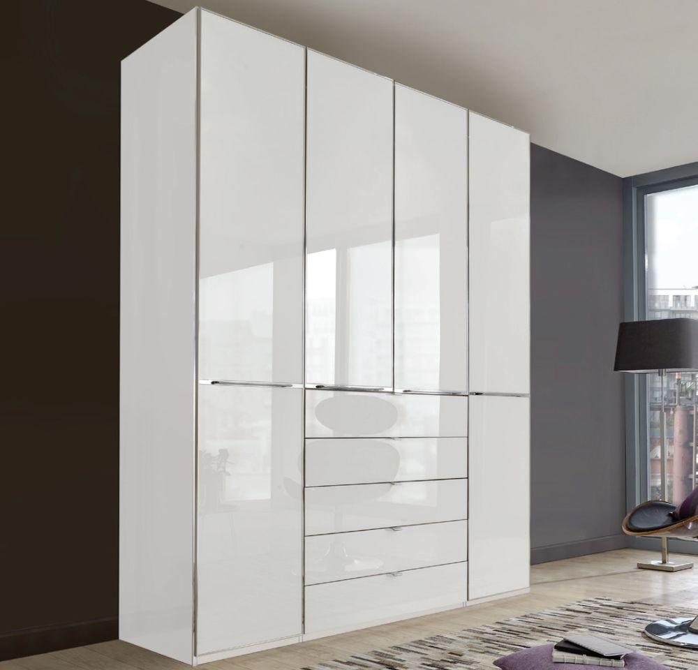 Wiemann VIP Shanghai2 4 Door 4 Drawer Combi Wardrobe in White - W 200cm