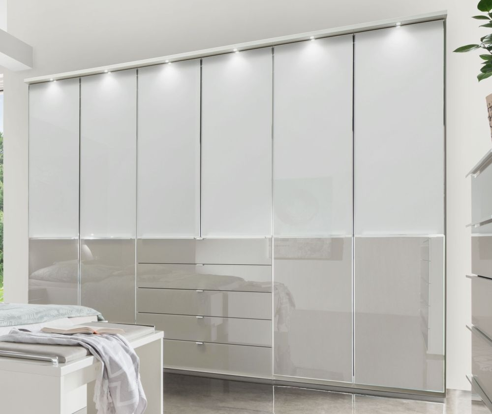 Wiemann VIP Shanghai 2 Wardrobe with Chrome Color Handle and Cross Trim