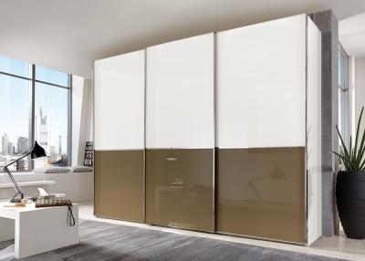 Wiemann VIP Shanghai 3 Door Sliding Wardrobe in White and Sahara - W 280cm