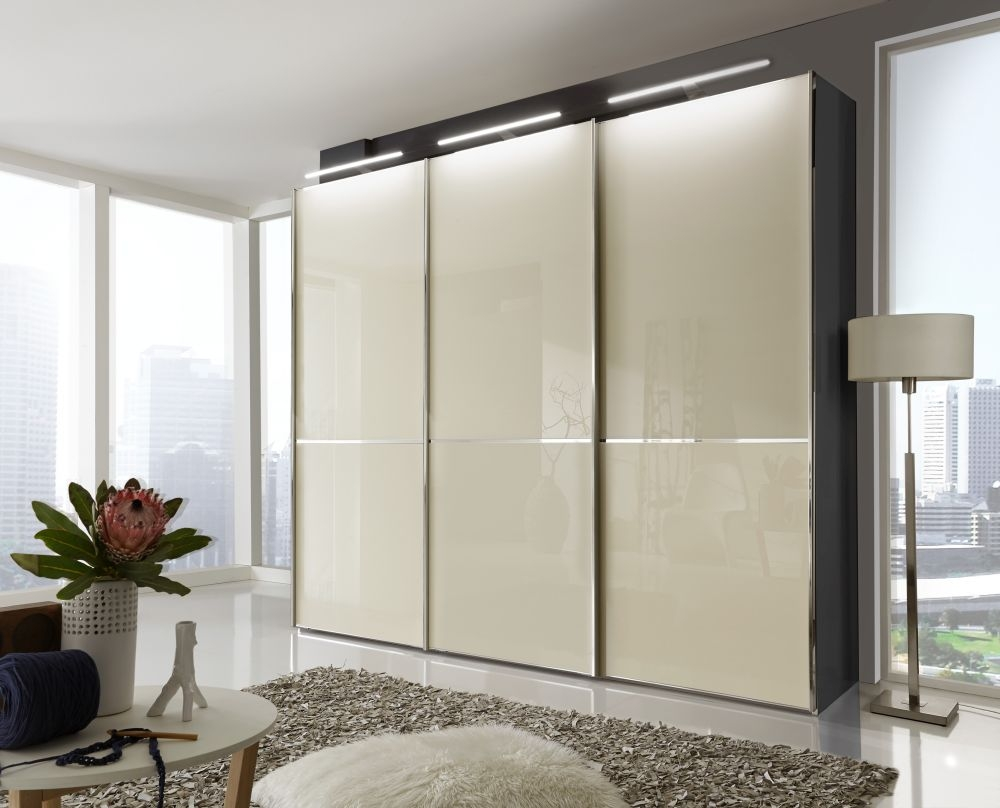 Buy Wiemann VIP Shanghai 2 Door Sliding Wardrobe in Black and Magnolia - W 150cm at £946.00 from Choice Furniture Superstore