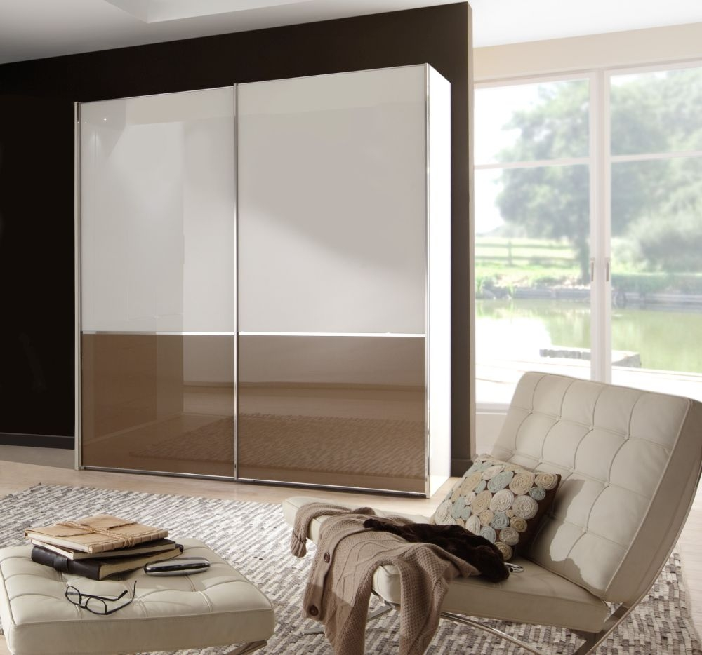 Wiemann VIP Shanghai 2 Door Sliding Wardrobe in White and Sahara - W 150cm