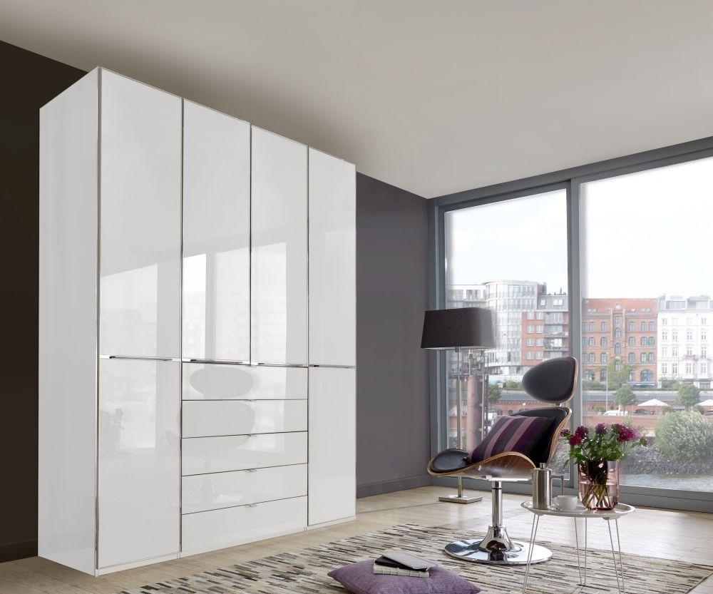 Wiemann VIP Shanghai 7 Door 10 Drawer Combi Wardrobe in White - W 350cm