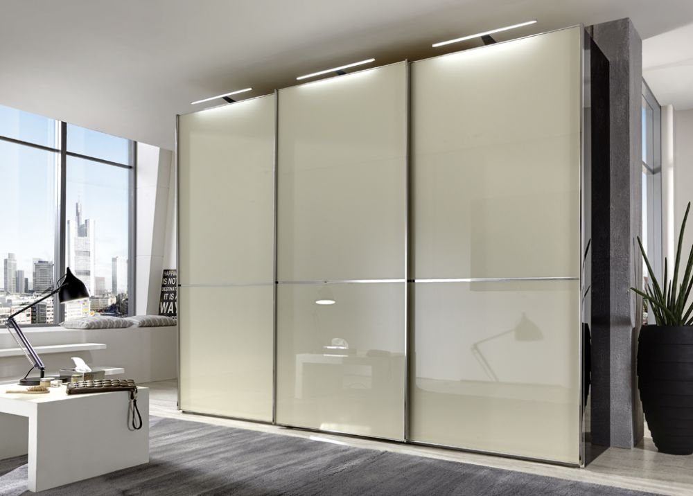 Wiemann VIP Shanghai Sliding Wardrobe with Chrome Color Trim