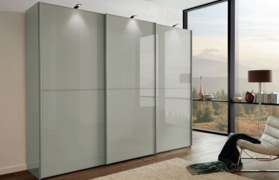 Wiemann VIP Westside 2 Sliding Wardrobe with Pebble Grey Glass Front