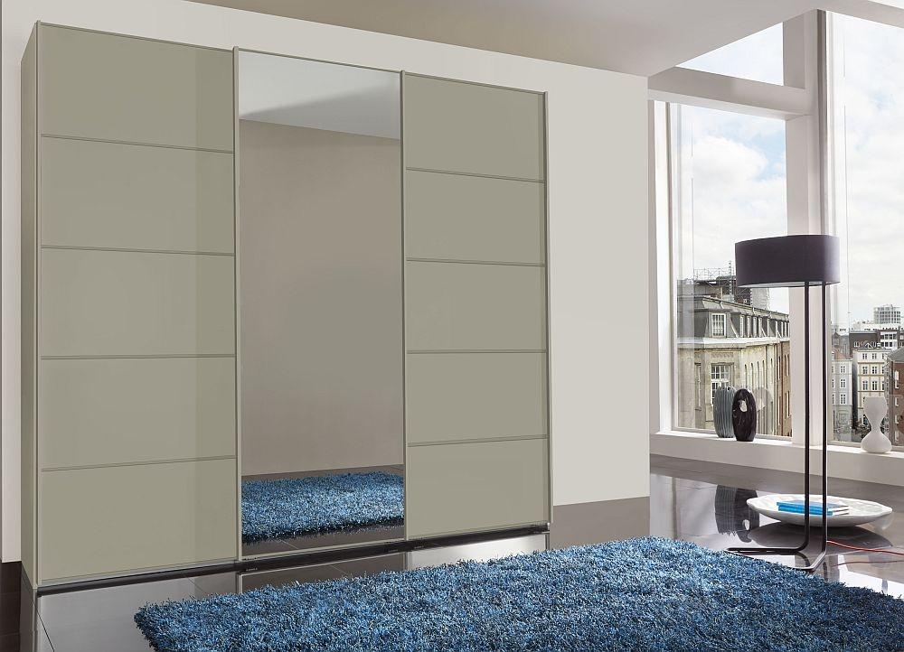 Wiemann VIP Westside2 3 Door Mirror Sliding Wardrobe in Pebble Grey - W 250cm