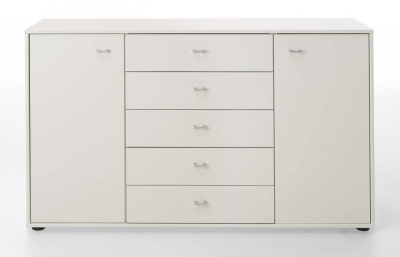 Wiemann VIP Westside 2 Door 5 Drawer Combi Chest in White