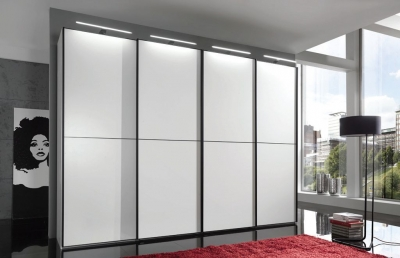 Wiemann VIP Westside 2 Door Sliding Wardrobe in White - W 150cm