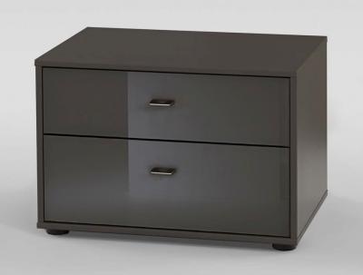 Wiemann VIP Westside 3 Drawer Bedside Cabinet in Havana - W 60cm