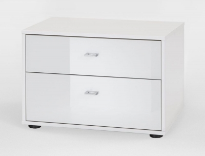 Wiemann VIP Westside 3 Drawer Bedside Cabinet in White - W 60cm