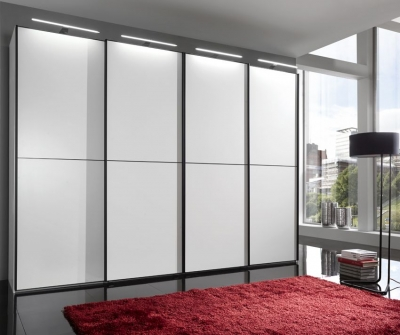 Wiemann VIP Westside 4 Door Sliding Wardrobe in White - W 330cm