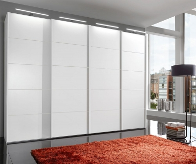 Wiemann VIP Westside 4 Door Sliding Wardrobe in White - W 400cm