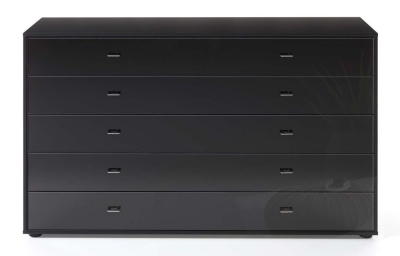 Wiemann VIP Westside 5 Drawer Narrow Chest in Black