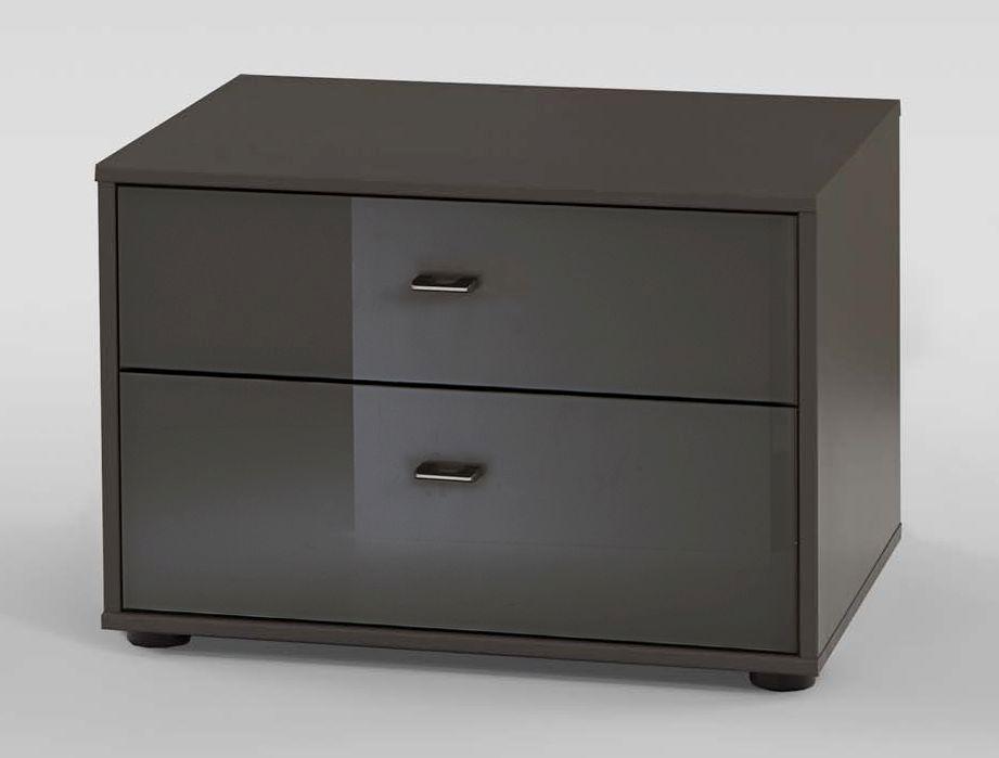 Wiemann VIP Westside 2 Drawer Bedside Cabinet in Havana - W 60cm